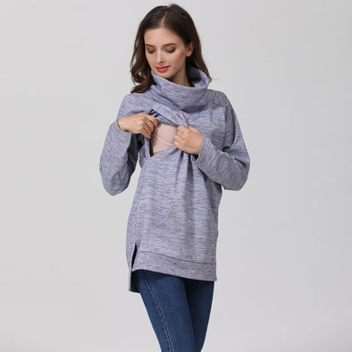 Heather Thermal Turtle Neck Sweater