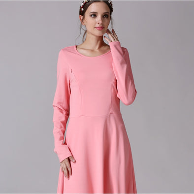 Long Sleeve Maternity Nursing Dresses