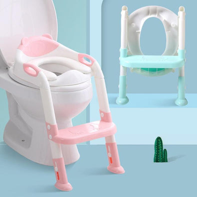 Folding Potty Training Seat with Adjustable Ladder