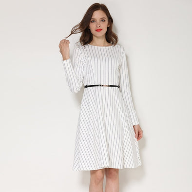Spring Autumn Long Sleeve Maternity Nursing Dress