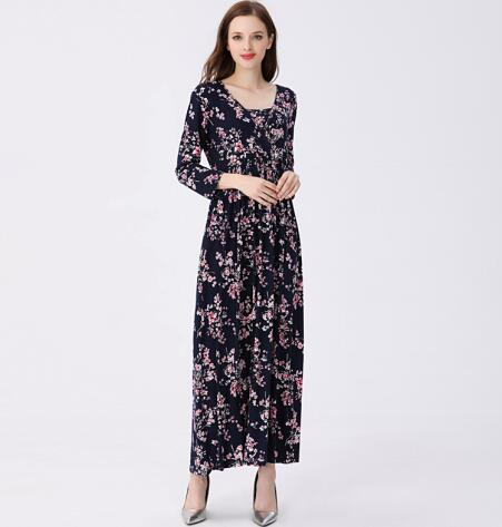 Floral Cotton Blend Maternity Dress