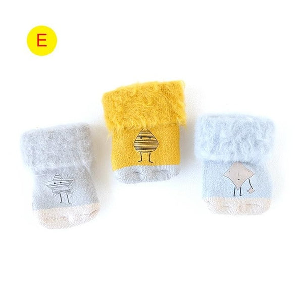 Thick Baby Socks 3PCS/Set 0-5 Years Old