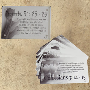 Scripture Cards and Acrylic Frames