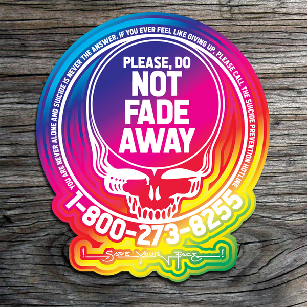 Save Your Face Rainbow Suicide Prevention Sticker 2-pack