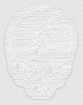 Unknown Pleasures White on Clear Sticker
