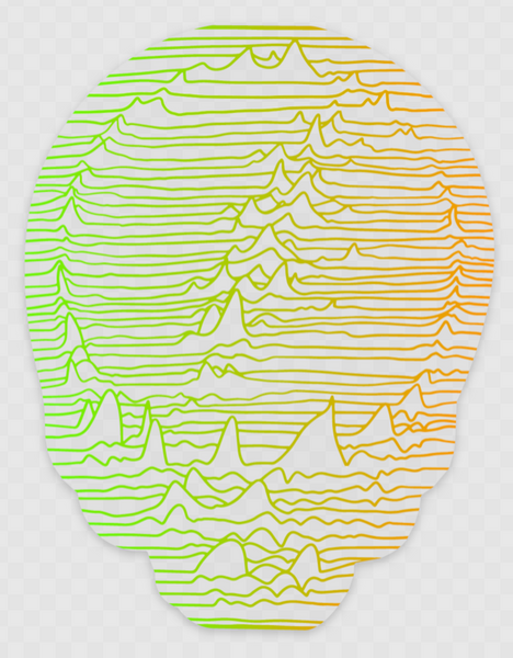 Unknown Pleasures Gradient on Clear Sticker 2-pack