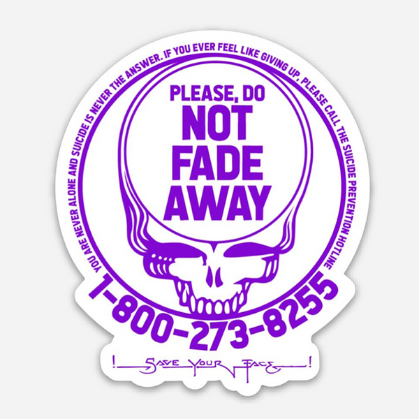 Save Your Face Suicide Prevention Sticker 2-pack