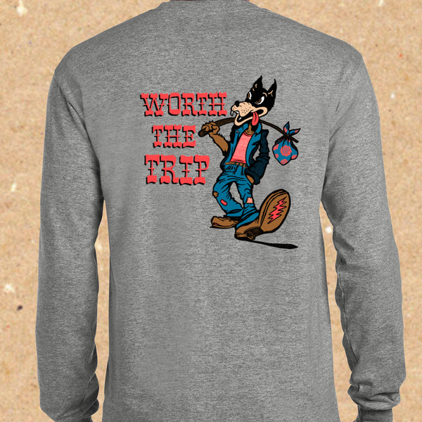 Worth the Trip Long Sleeve T-shirt CHARCOAL