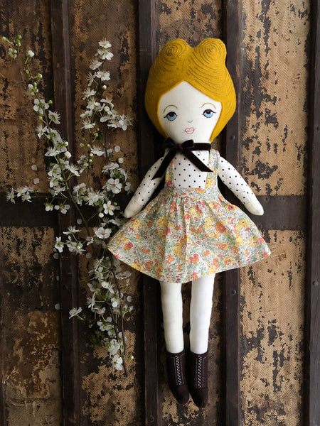 A Maker's Burrow Heirloom Doll- Yellow