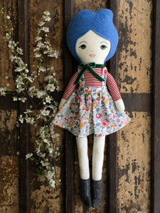 A Maker's Burrow Heirloom Doll- Blue