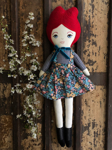 A Maker's Burrow Heirloom Doll- Red