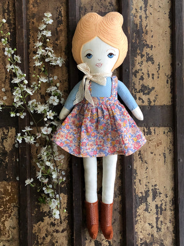 A Maker's Burrow Heirloom Doll- Apricot