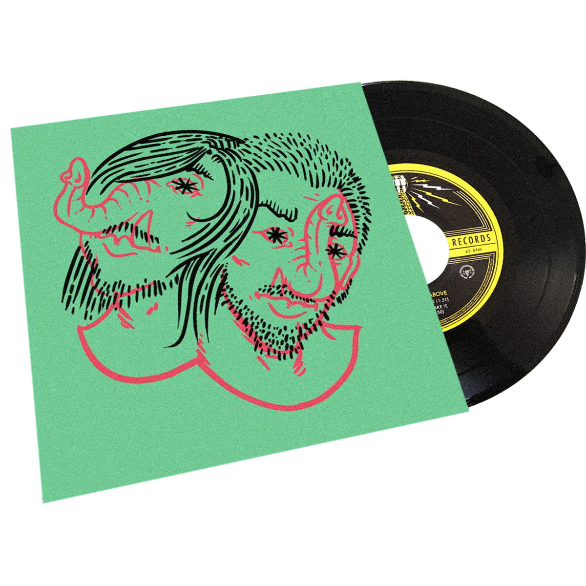 "Death From Above 1979 - Third Man Records - ""Heads Up Demos"" -  7"" - GREEN"