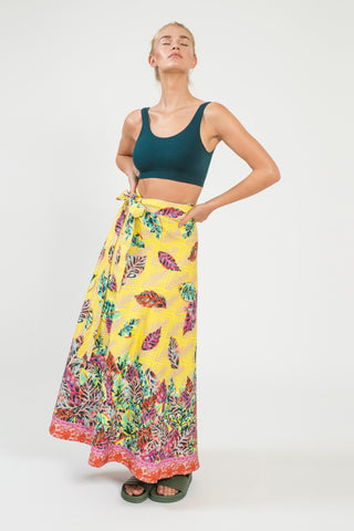 Decotropic Wrap Maxi Skirt