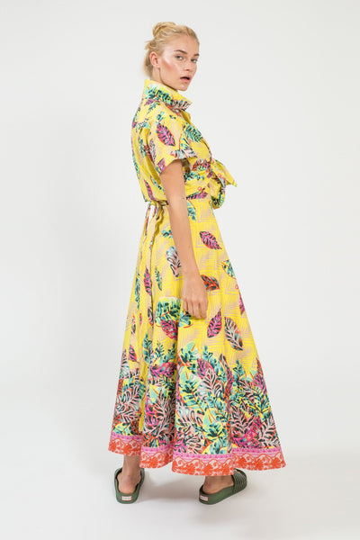 Decotropic Wrap Maxi Skirt - shopsigal