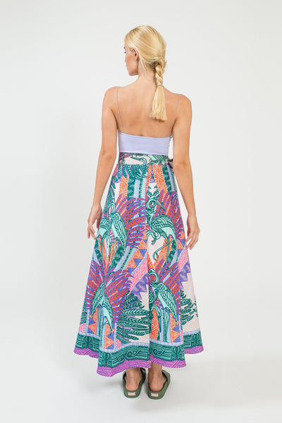 Garzas Wrap Maxi Skirt - shopsigal