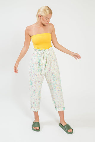 Le Jardin Paper Bag Pants - shopsigal