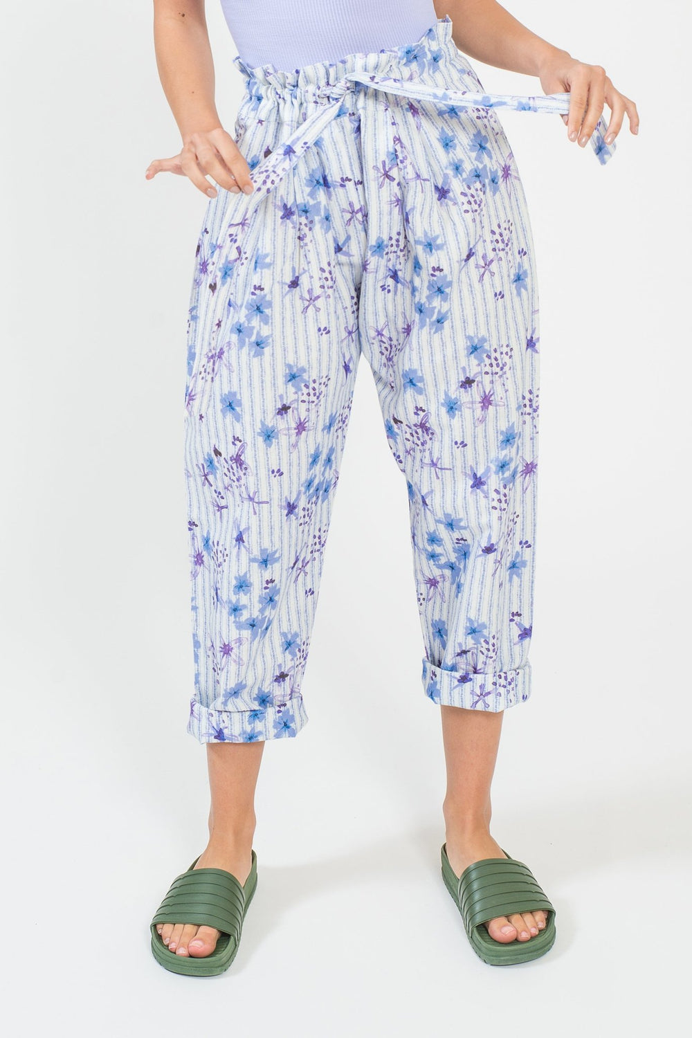 Purple Queen Paper Bag Pants - shopsigal
