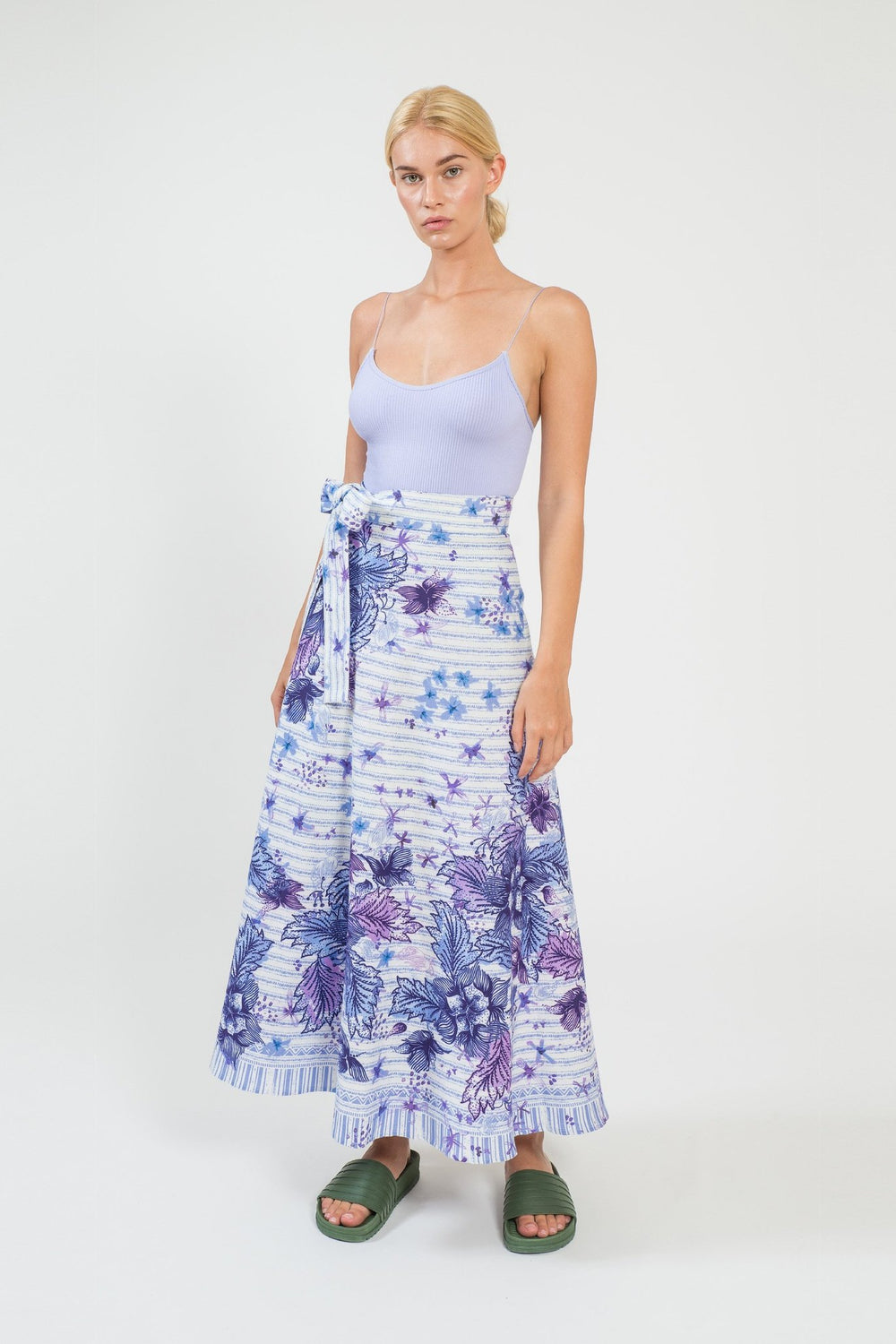Purple Queen Wrap Maxi Skirt - shopsigal