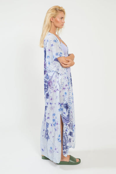 Purple Queen Long Kimono - shopsigal