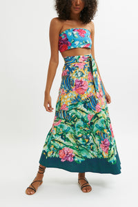 Aquaria Wrap Maxi Skirt