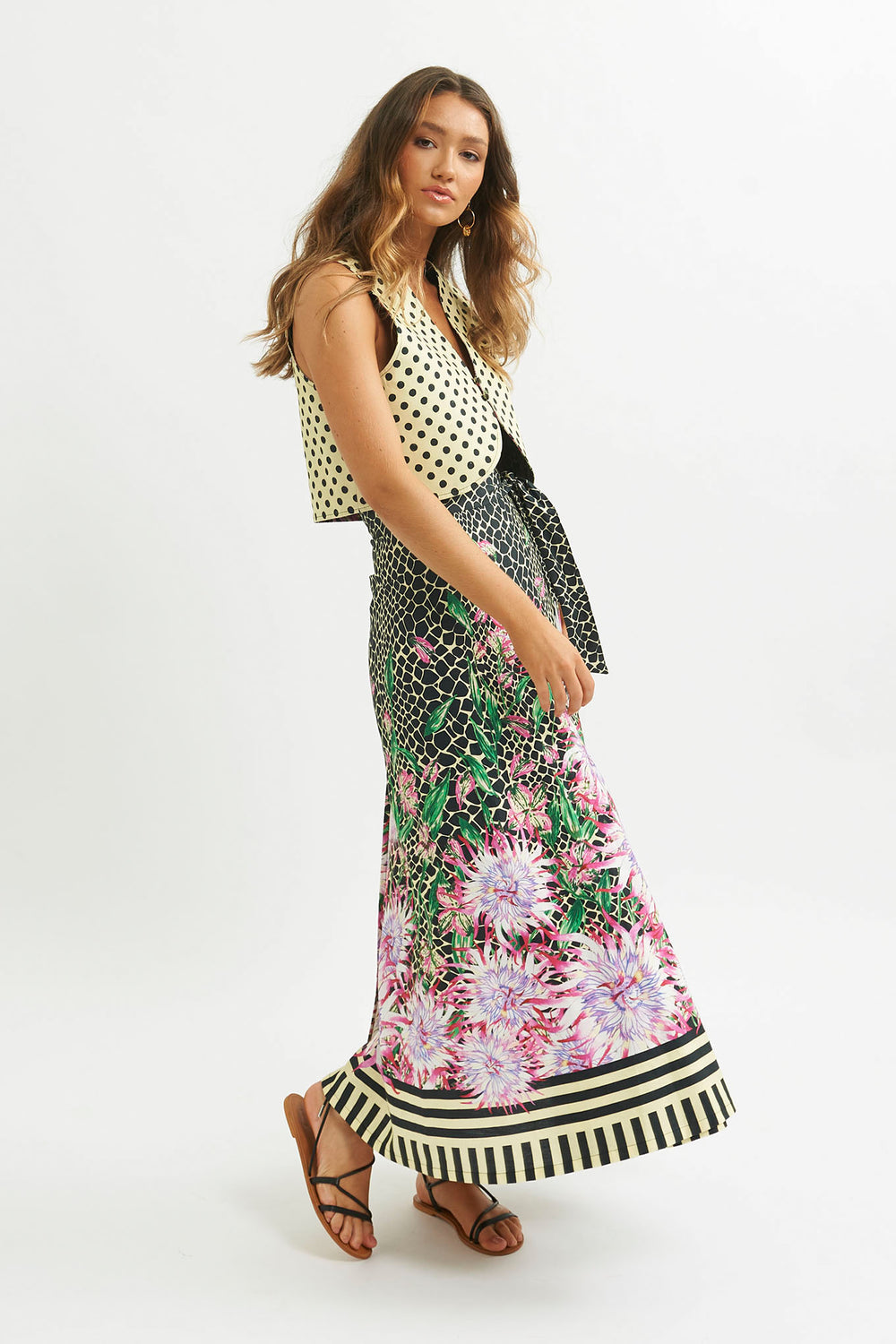Erizo Wrap Maxi Skirt - shopsigal