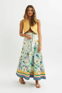 Medusa Wrap Maxi Skirt