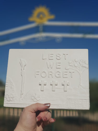 Lest We Forget Plaque