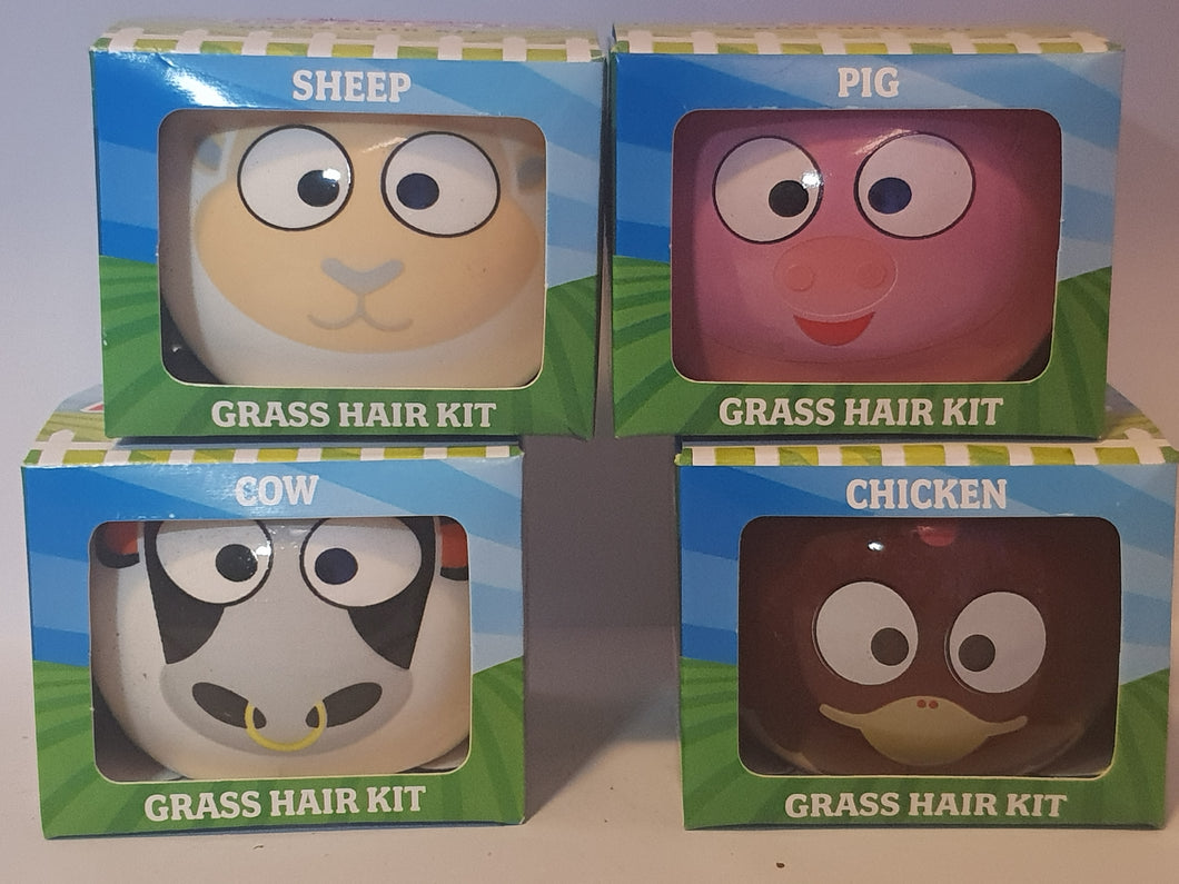 Farm Animals Grass Hair Kit