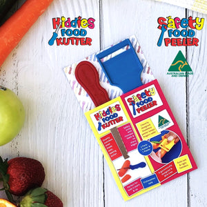 Twin Pack - Kiddies Food Kutter & Safety Food Peeler