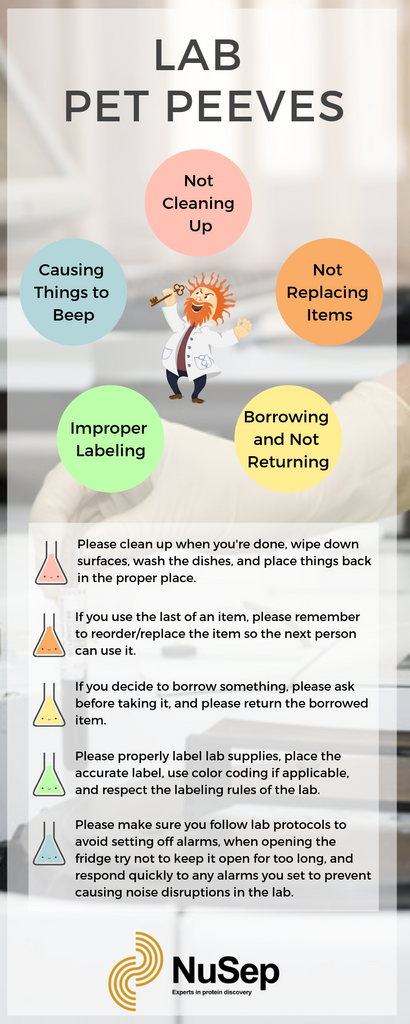 Lab Pet Peeves Infographic