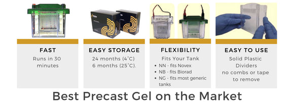 Best Precast Gel on the Market - fast, easy storage, flexible, easy to use