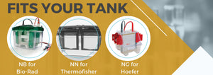 NuSep precast gels that fits your tank - biorad, thermofisher, hoefer