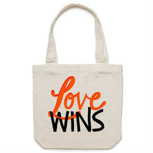 LOVE WINS Tote Red