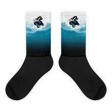 Load image into Gallery viewer, Dragons Gradient Blue Socks