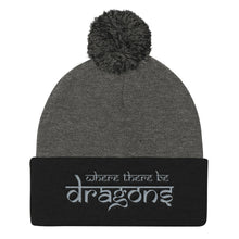 Load image into Gallery viewer, Dragons Pom Pom Beanie Heather Grey and Black