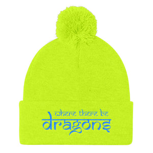 Dragons Pom Pom Beanie Neon Yellow