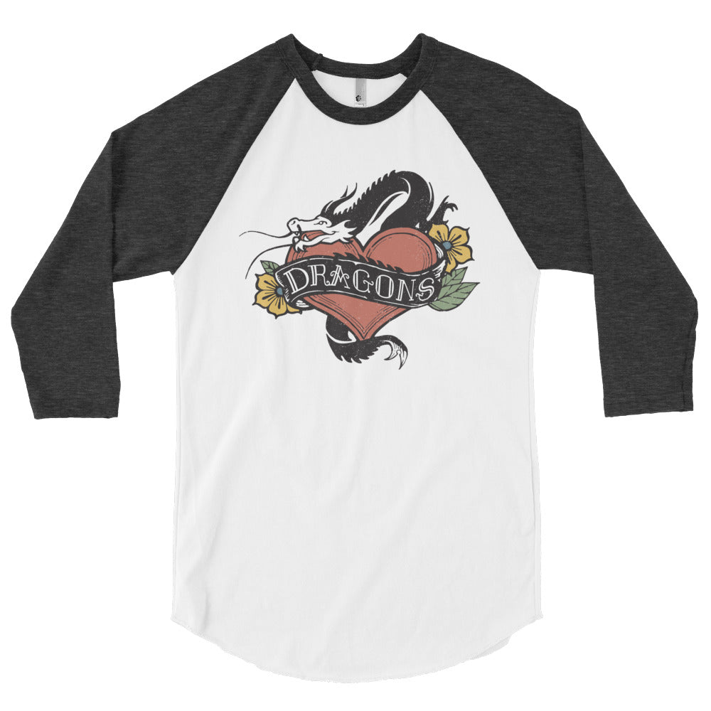 I ❤︎ Dragons Tattoo Raglan Shirt