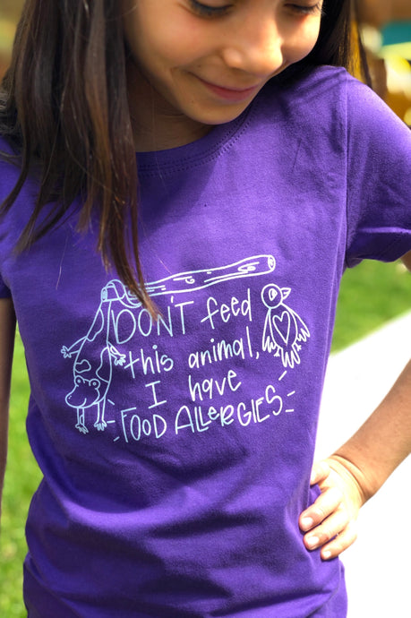 Don't Feed This Animal T-shirt Purple