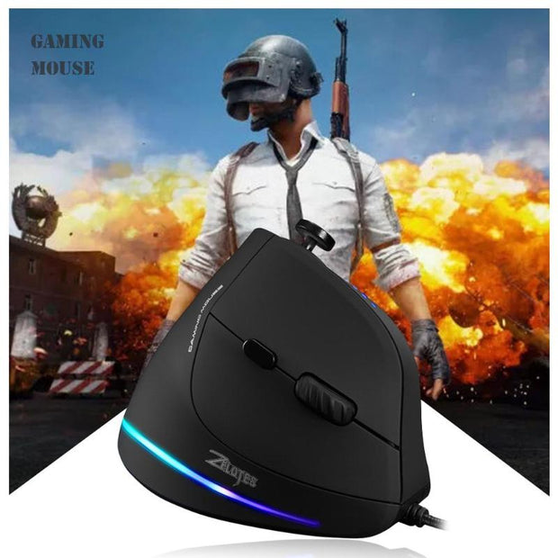 Vertical Gaming Mouse USB Wired Programmable Buttons