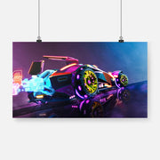 Rocket League Neon Canvas - Gapo Goods