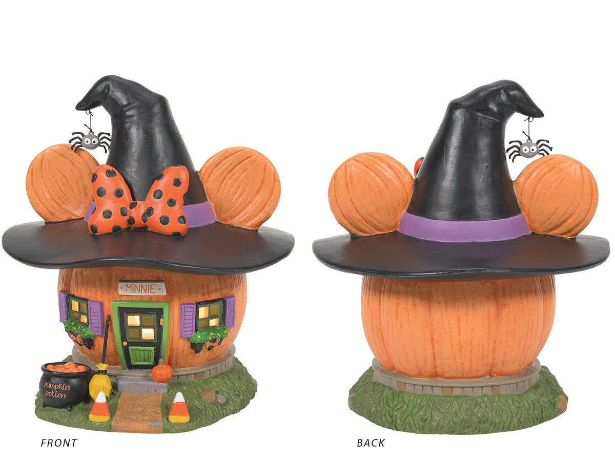Minnie's Pumpkintown House, front and back views