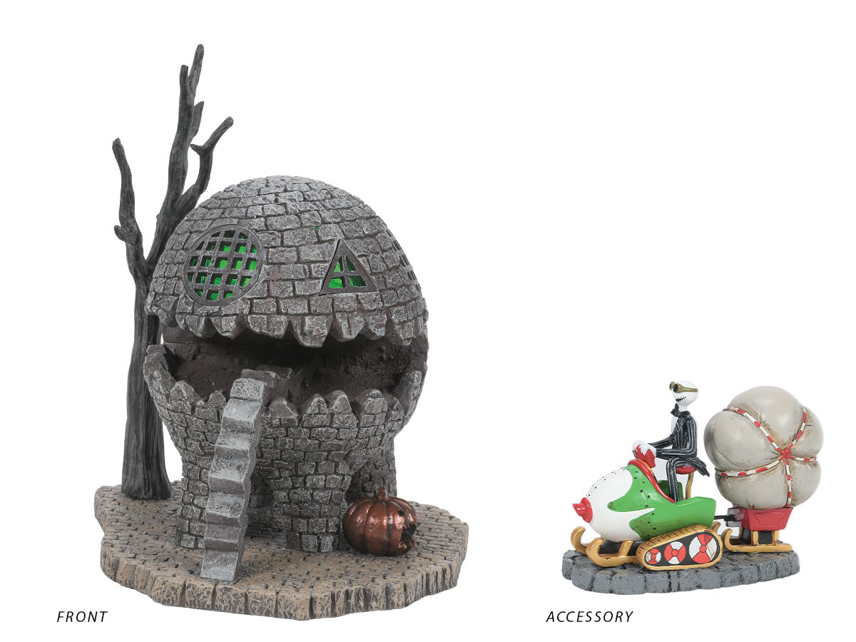 The Lizard House lit building with Jack Brings Christmas Home accessory
