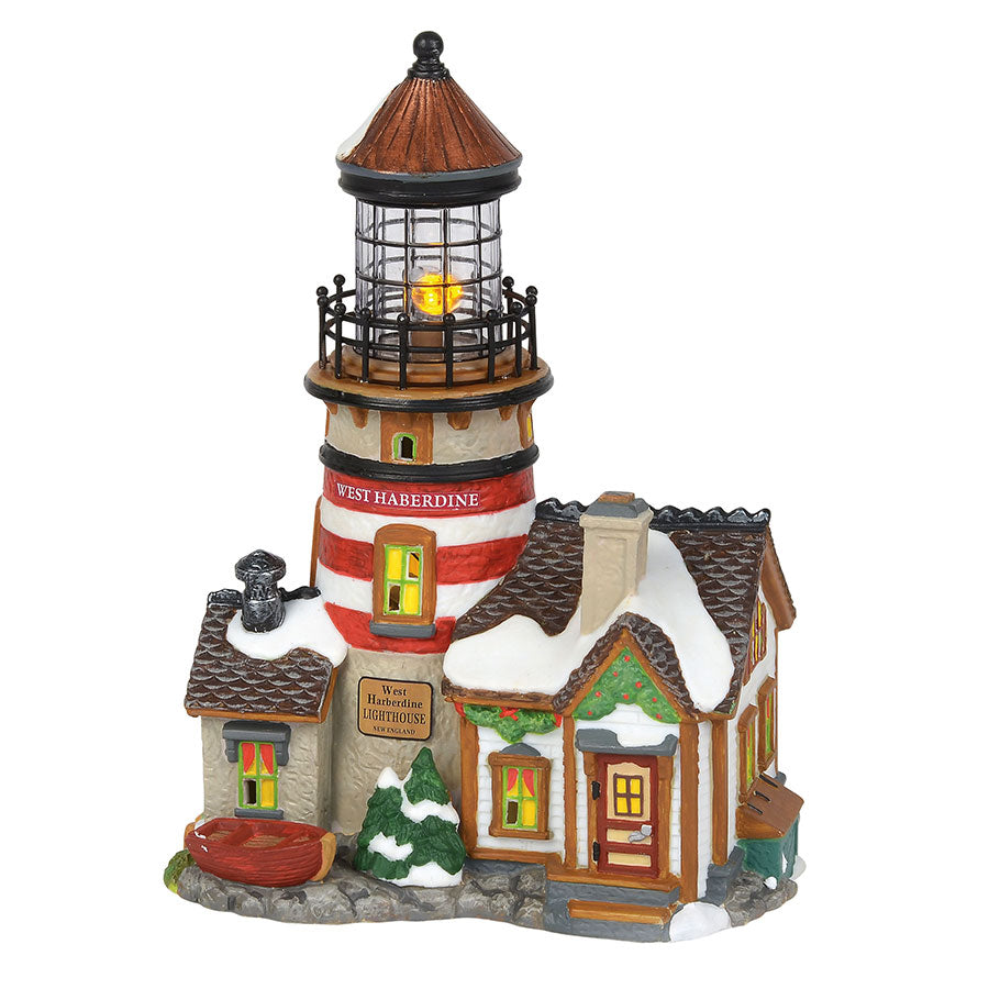 "New England Village ""West Haberdine Lighthouse"" #6000608"
