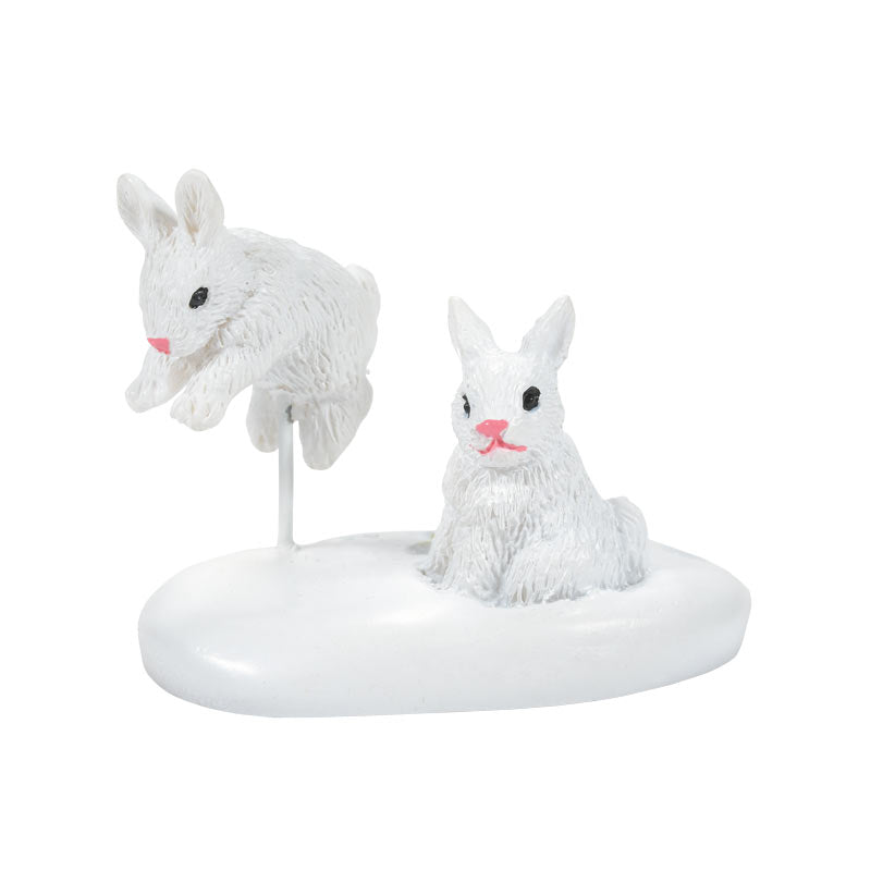 WHITE CHRISTMAS BUNNIES accessory
