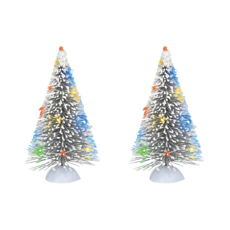 LIT FROSTED WHITE SISAL TREE SET accessory