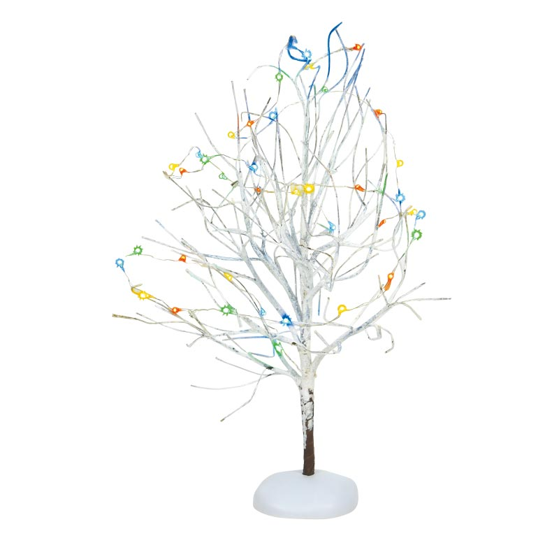 LIT WHITE FROST TREE accessory