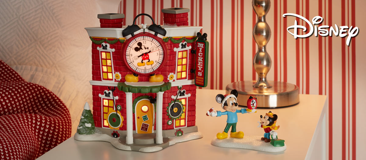 56e9b6da55a4d Disney Mickey s Christmas Village – Department 56 Official Site