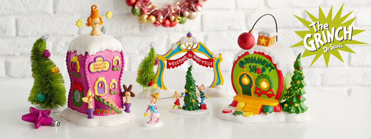 enjoy this whimsical collection inspired by a favorite from dr seuss how the grinch stole christmas this classic story is brought to life with charming - The Grinch Themed Christmas Decorations