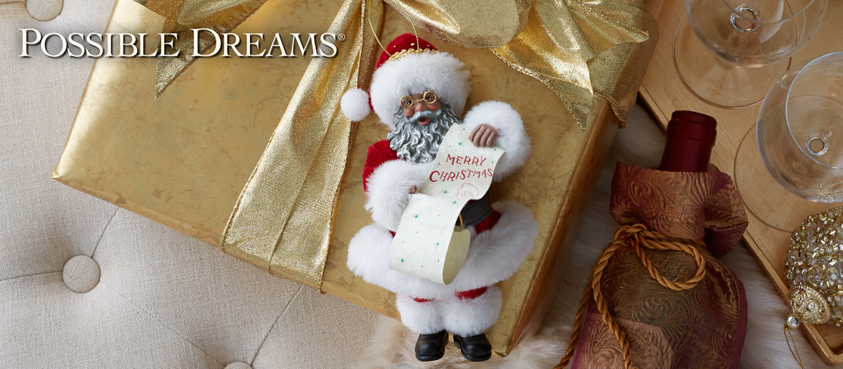 Possible Dreams Santa Ornaments